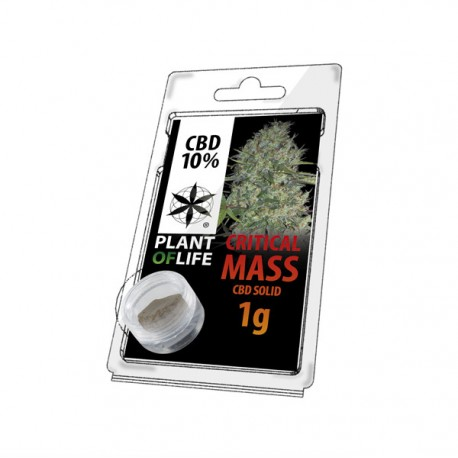 Résine CBD CRITICAL MASS 10% 1G Plant of Life