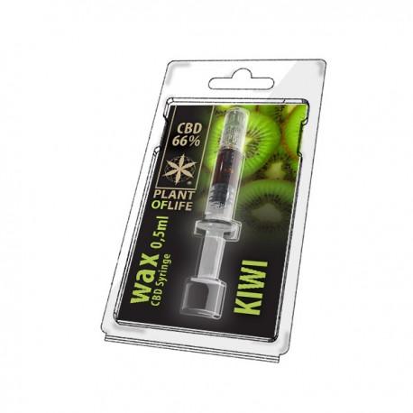 Wax CBD Kiwi 66% 0,5ML Plant of Life